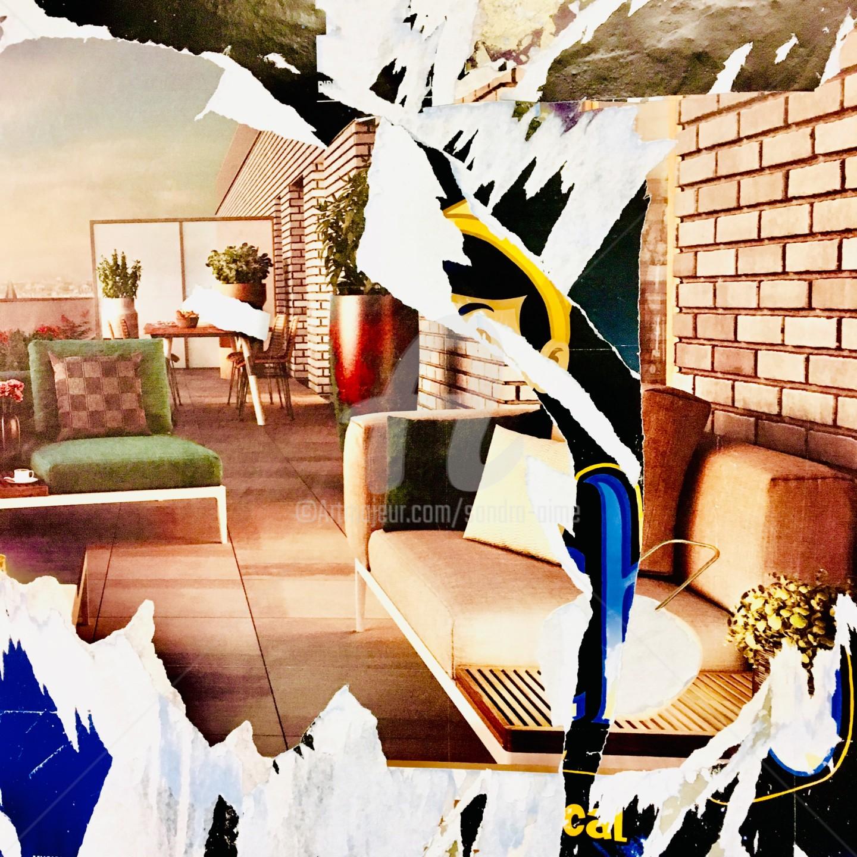 Sandra Aime - «L'ange dos au mur»